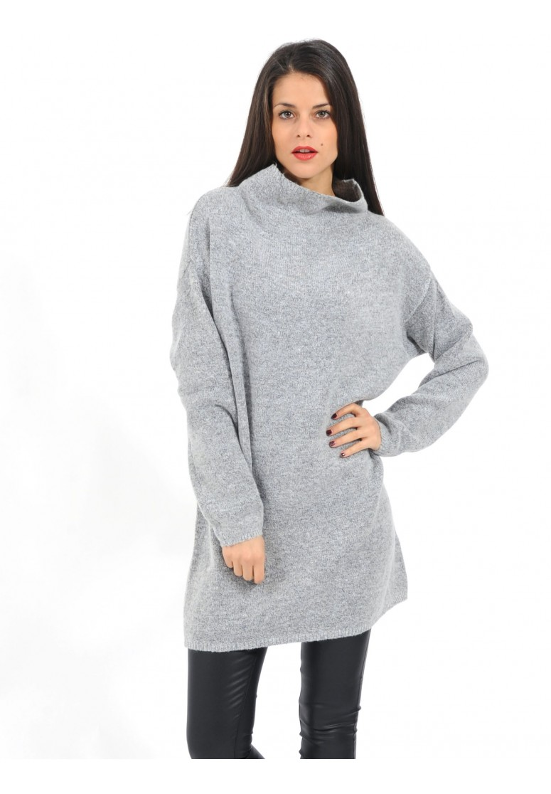 a11ad05a96d robe pull gris chiné