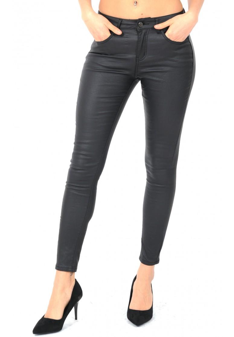 pantalon huilé noir