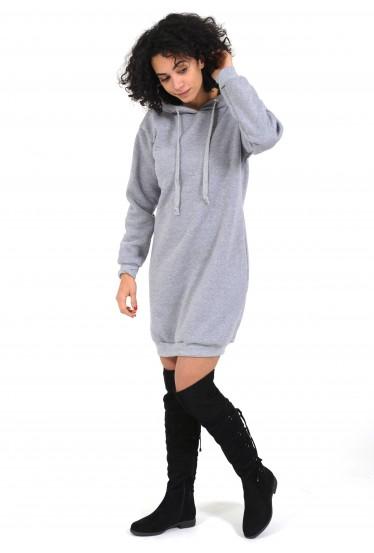 robe sweat gris