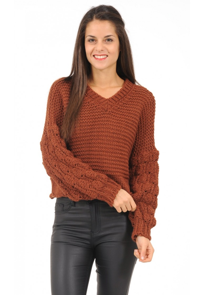 pull court aux manches oversize