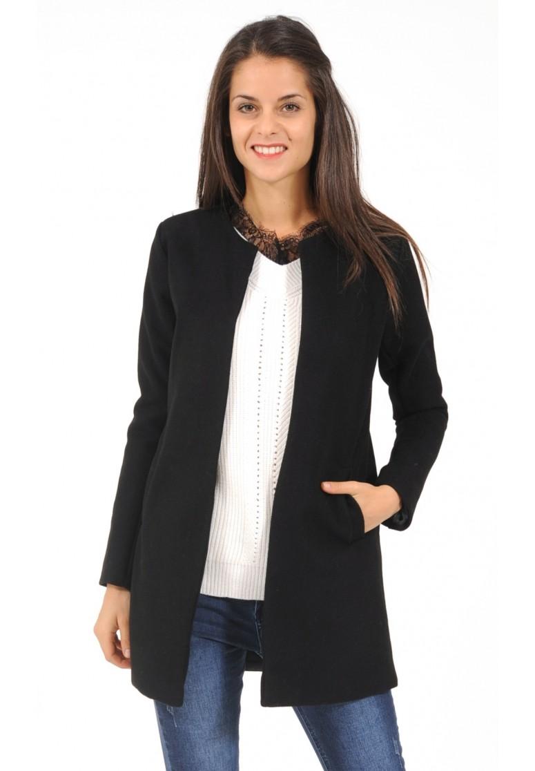 manteau mi long noire