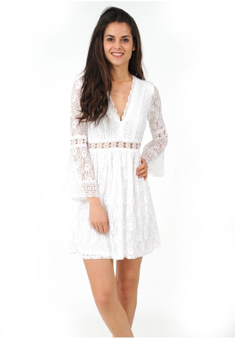 robe blanche dentelle