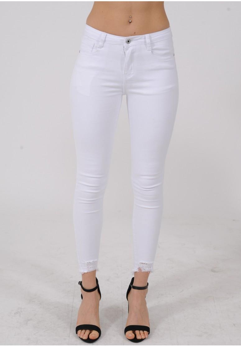 Jeans skinny blanc