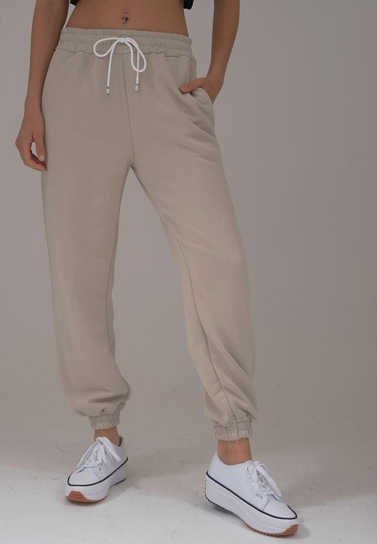 Pantalon de survêtement femme Beige confortable