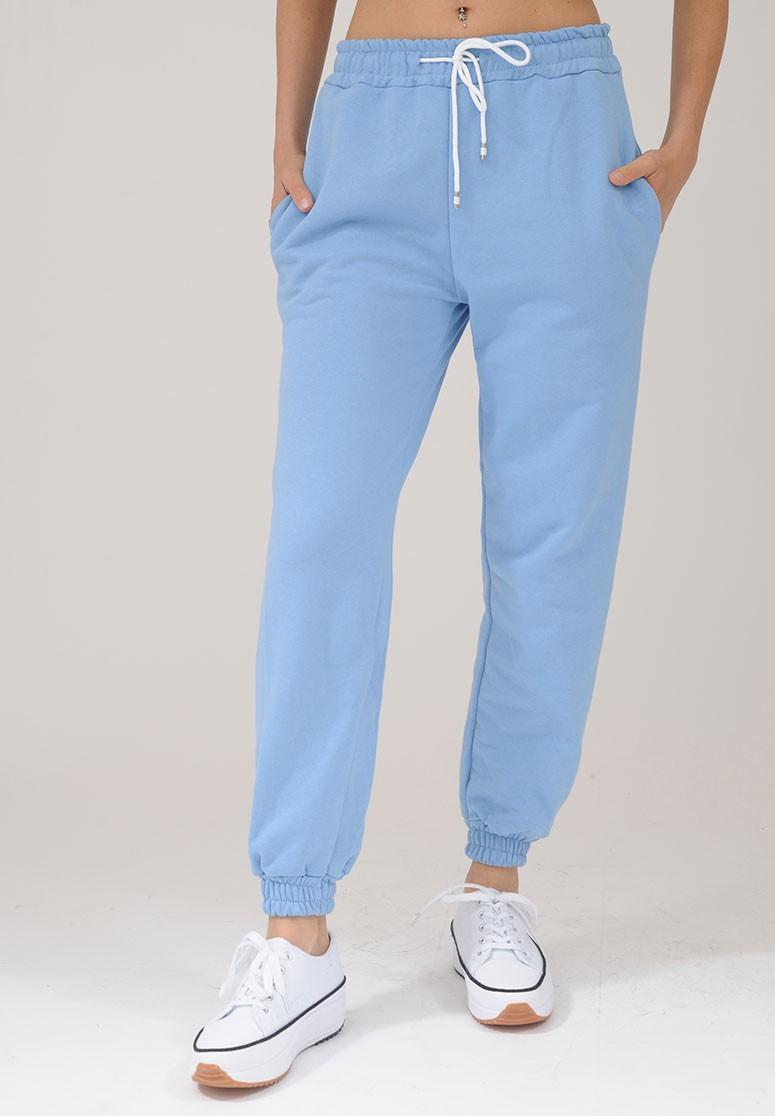 Pantalon survêtement femme bleu confortable