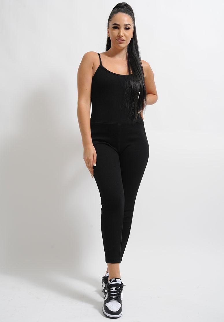 Combinaison confortable femme dos nu noire